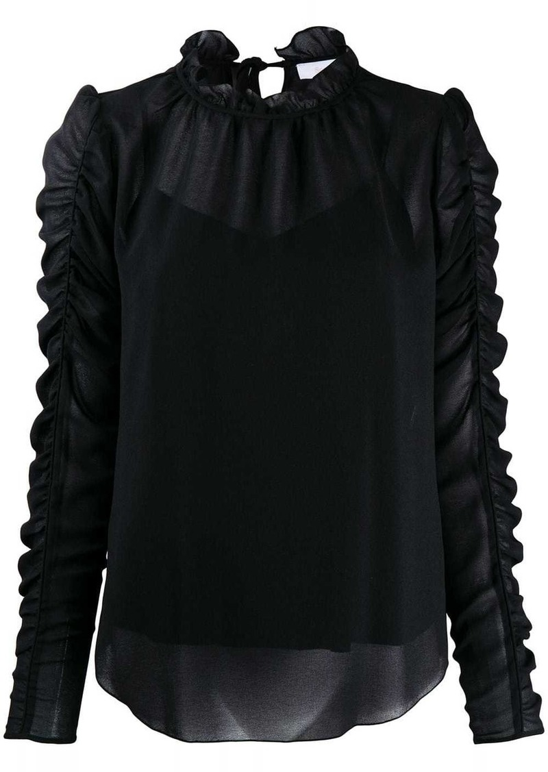 See by Chloé gathered sleeve blouse