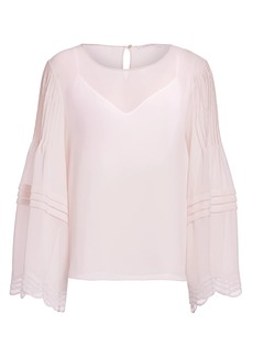 See by Chloé Georgette Long-Sleeve Blouse