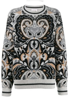 See by Chloé Giant paisley jacquard sweater