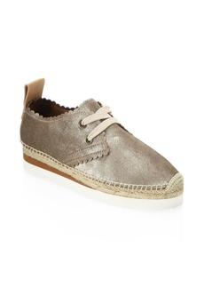 See by Chloé Gly Suede Lace-Up Espadrilles