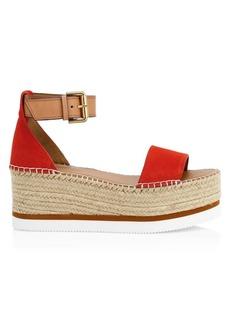 See by Chloé Glyn Suede Platform Wedge Sandals