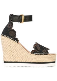 See by Chloé Glyn wedge sandals
