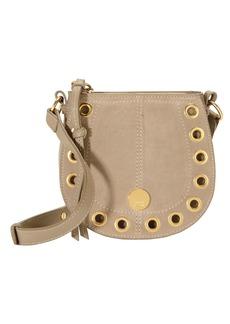 See by Chloé Gold Grommet Beige Crossbody Bag