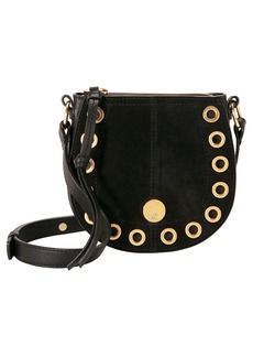 See by Chloé Gold Grommet Black Crossbody Bag