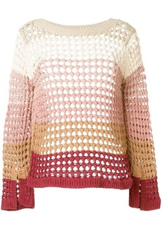 See by Chloé gradient open knit sweater