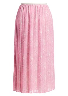 See by Chloé Graphic Floral-Print Midi Skirt