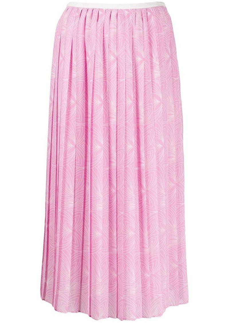 See by Chloé graphic pleated skirt