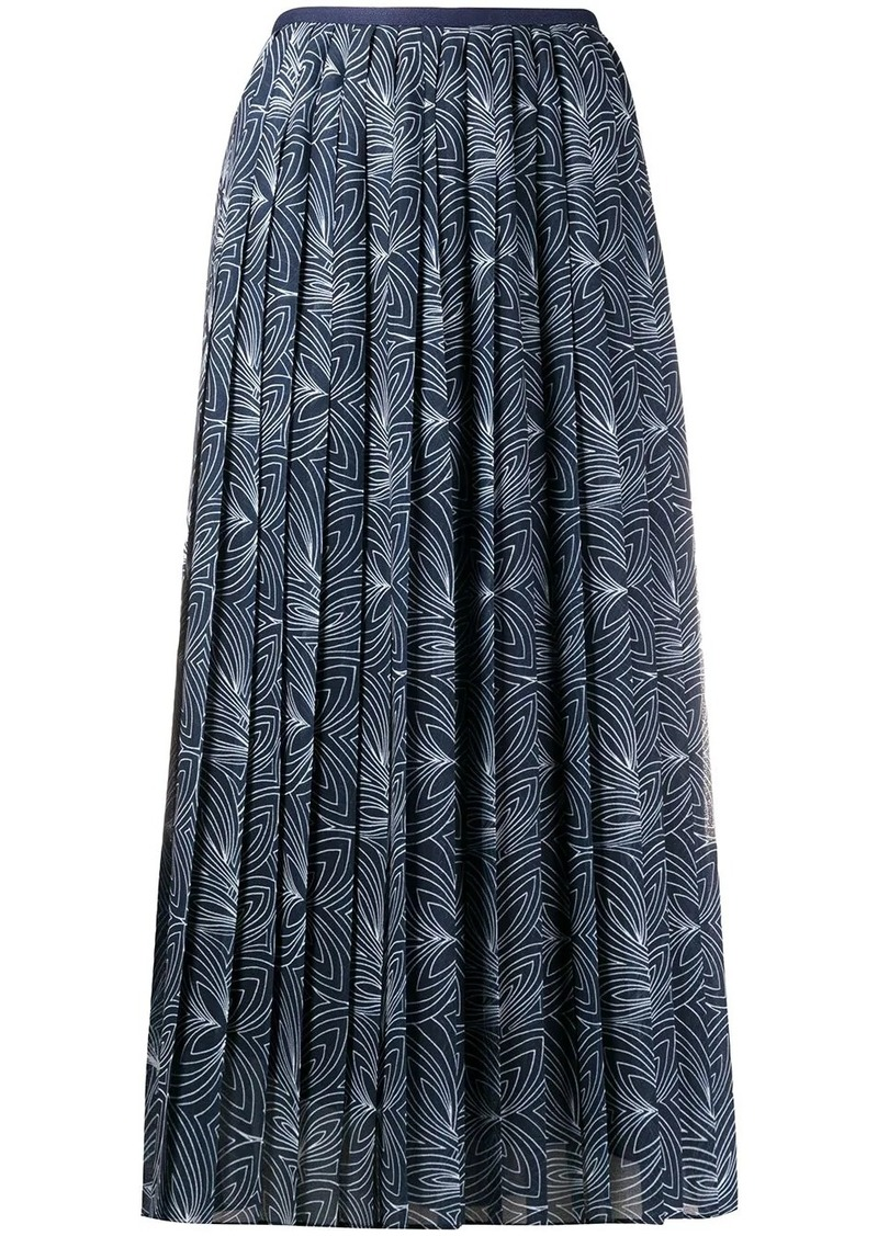 See by Chloé graphic print pleated skirt
