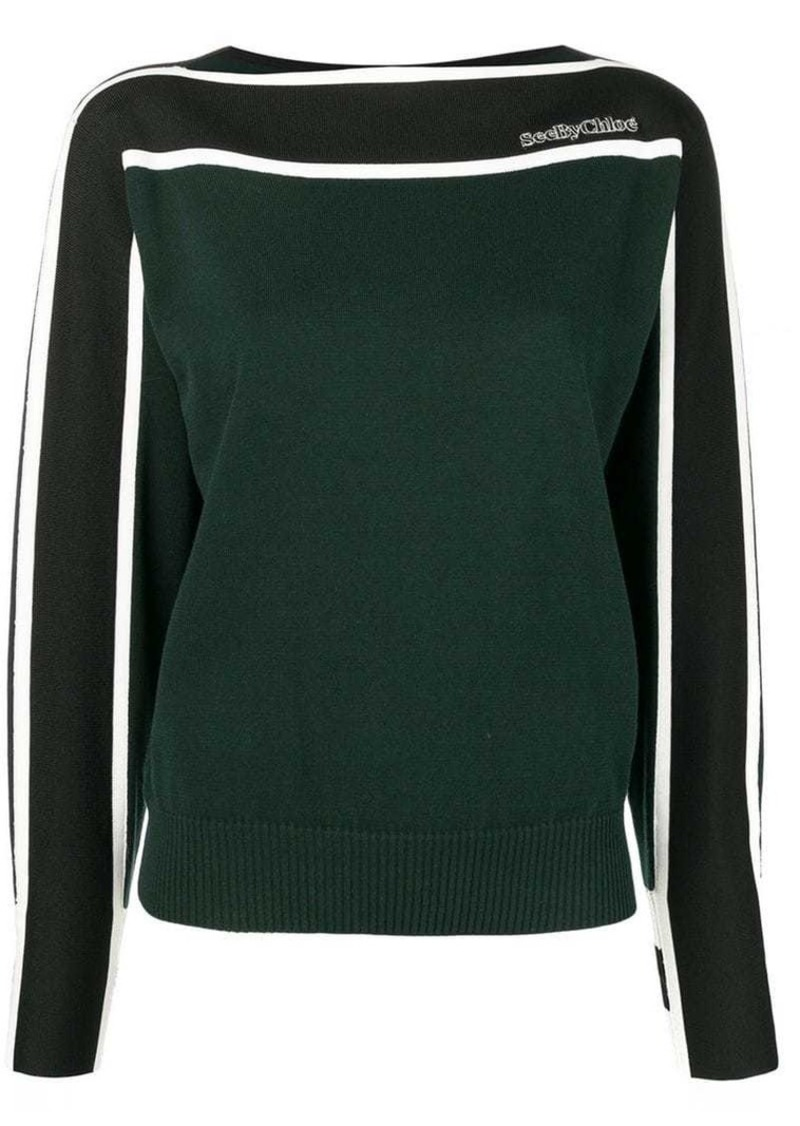 See by Chloé green knit sweater