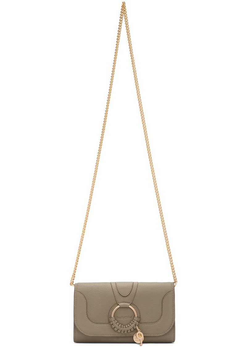 See by Chloé Grey Hana Chain Wallet