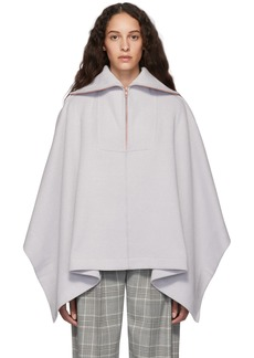 See by Chloé Grey Zip-Up Poncho