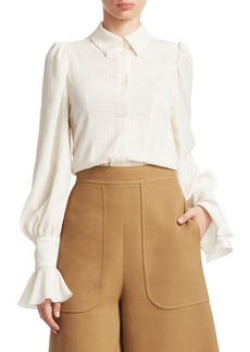 See by Chloé Grid-Patterned Top