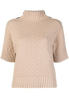 See by Chloé half-sleeve turtleneck sweater