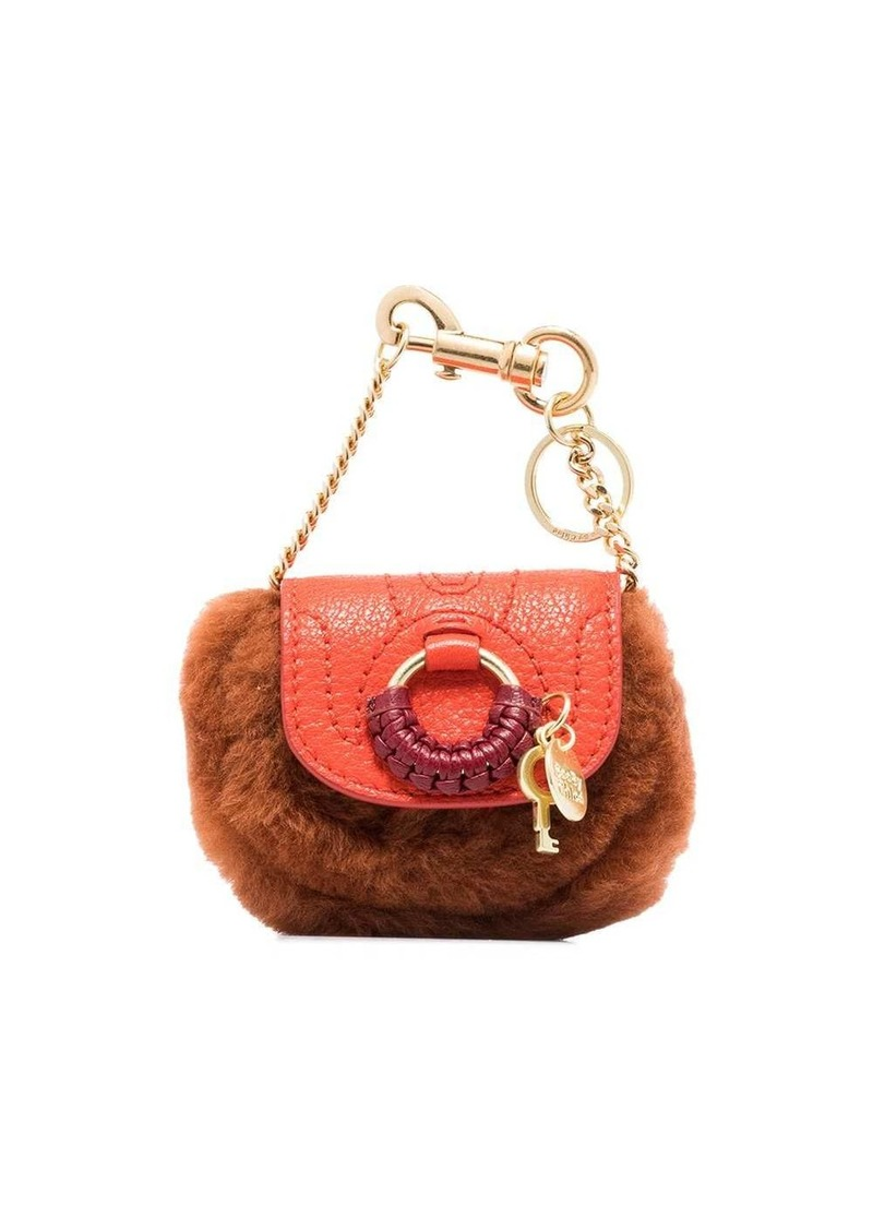 Hana faux-fur detail mini bag