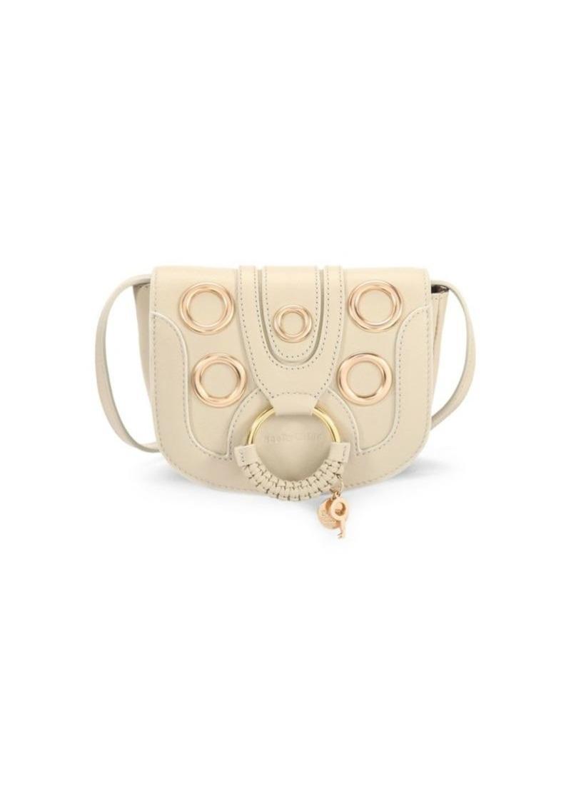 See by Chloé Hana Leather Eyelet Saddle Bag