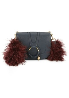 See by Chloé Medium Hana Leather & Lamb Fur Crossbody Bag