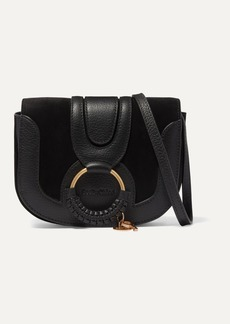 See by Chloé Hana Mini Textured-leather And Suede Shoulder Bag