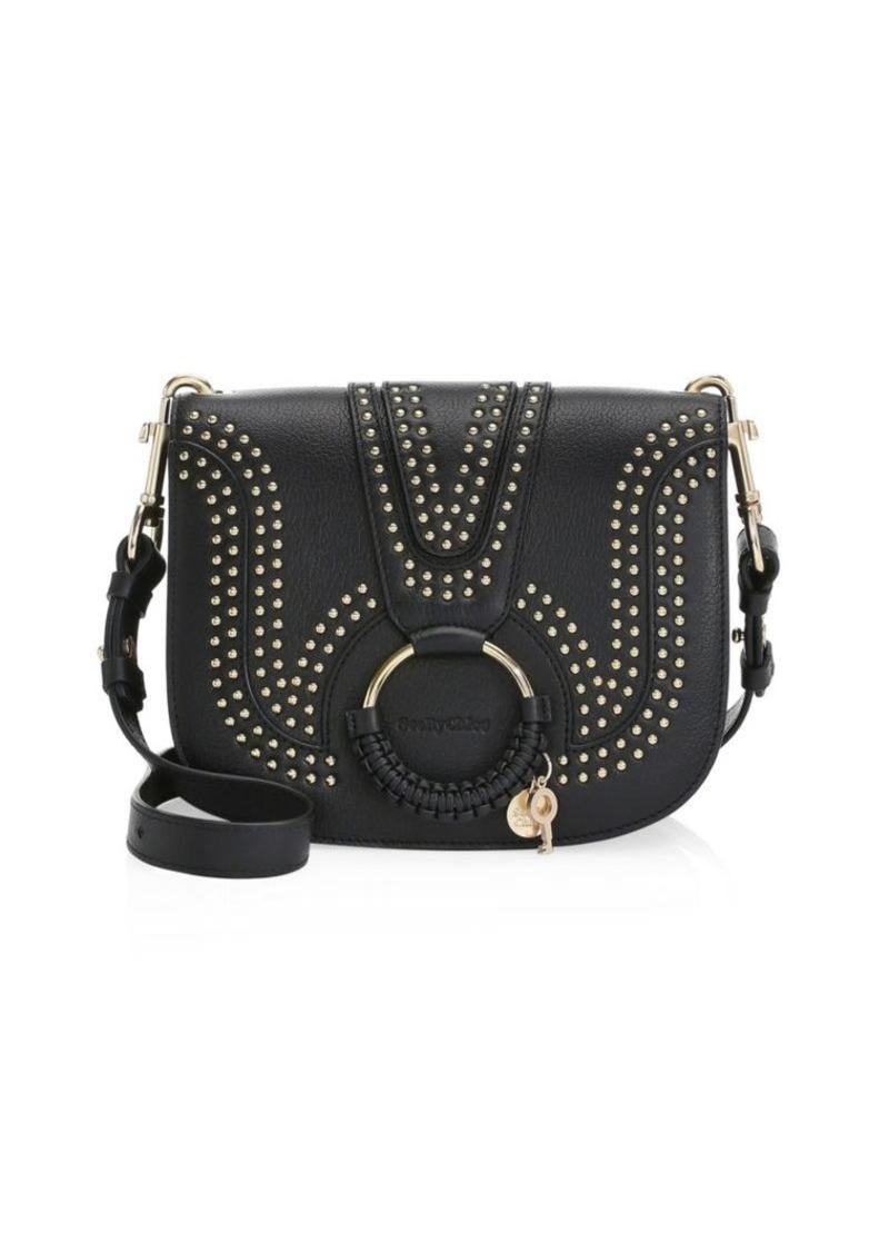 0e92c5e60654 See by Chloé Hana Studded Leather Saddle Bag