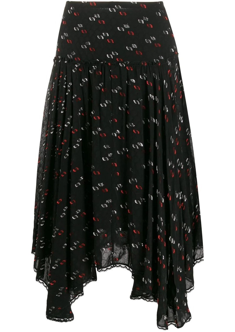 See by Chloé handkerchief-hem fil coupé skirt