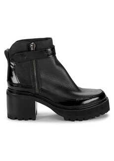 See by Chloé Hayden Lug-Sole Leather Ankle Boots