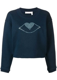 See by Chloé heart lips jumper