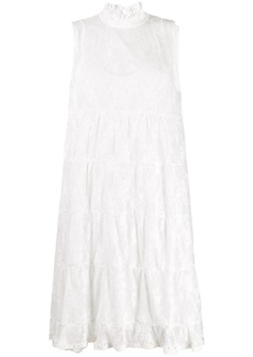 See by Chloé high-neck floral-lace dress
