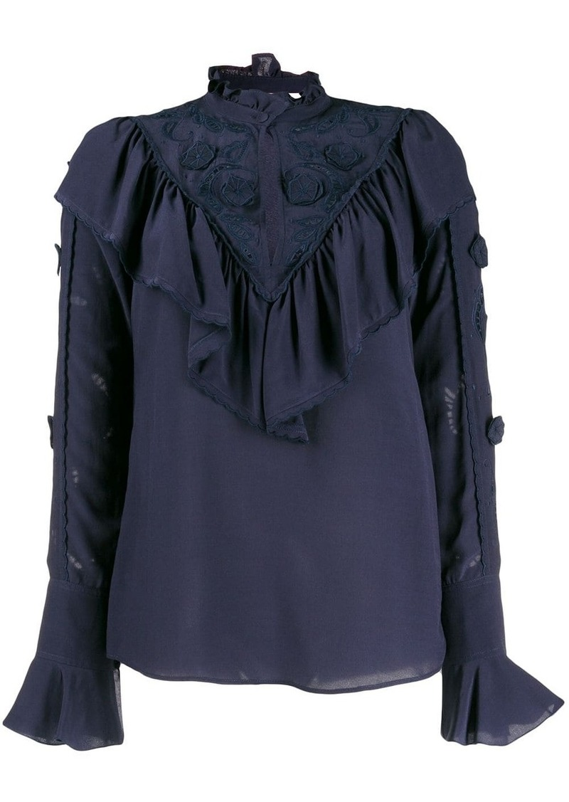 See by Chloé high neck ruffled top