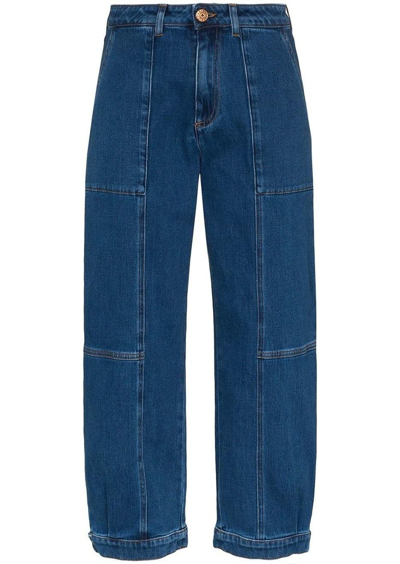 See by Chloé high-rise cropped jeans