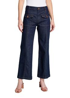 See by Chloé High-Waist Flare-Leg Denim Jeans