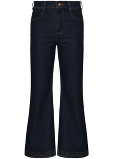 See by Chloé high-waisted kick-flare jeans
