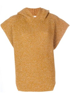 See by Chloé hooded poncho sweater