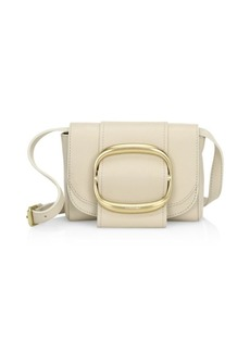 See by Chloé Hopper Oversized Buckle Leather Shoulder Bag