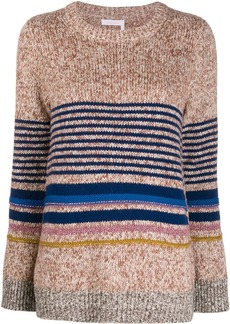 See by Chloé horizontal knit stripes jumper