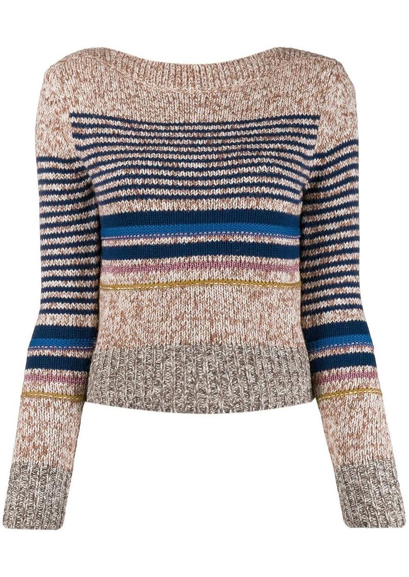 See by Chloé horizontal stripes jumper