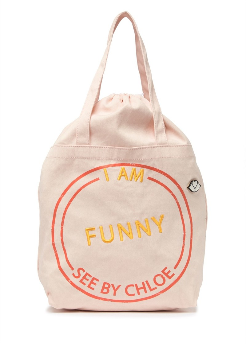 See by Chloé I Am Funny Canvas Tote