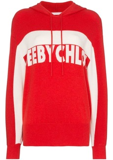 See by Chloé intarsia knit logo hoodie