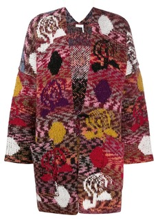 See by Chloé intarsia-knit oversized cardigan