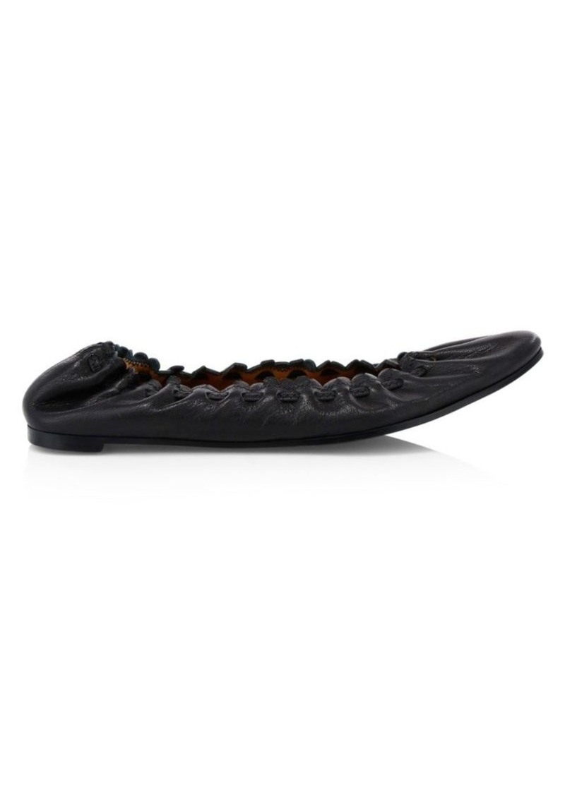 See by Chloé Jane Leather Point-Toe Flats