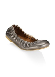 See by Chloé Jane Metallic Ballet Flats
