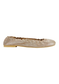 See by Chloé Jane Metallic Gold Leather Ballet Flats