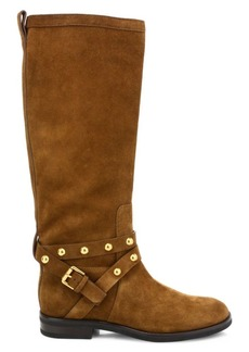 See by Chloé Janis Studded Knee-High Suede Boots