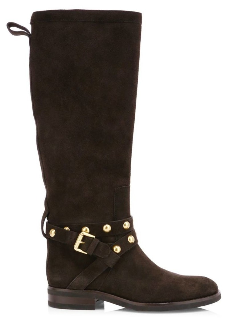 See by Chloé Janis Studded Tall Suede Boots