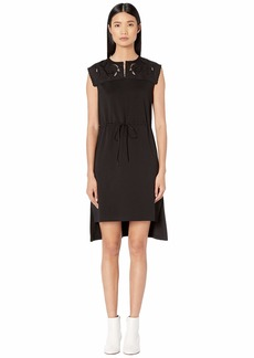 See by Chloé Jersey Applique Drawstring Dress