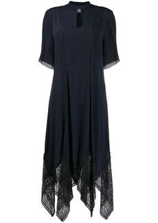 See by Chloé key-hole neckline scalloped lace dress