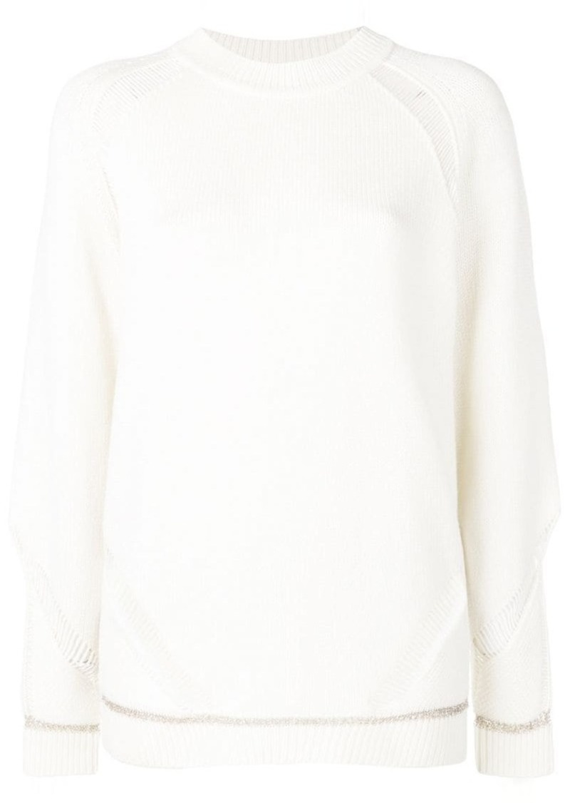 See by Chloé knit distressed jumper