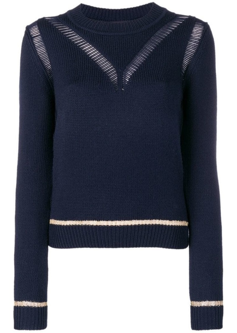 See by Chloé knit distressed sweater