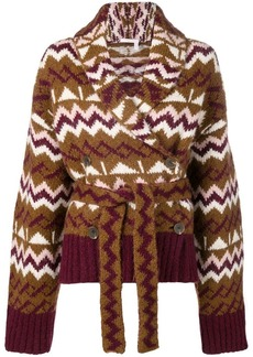 See by Chloé knitted belted cardigan