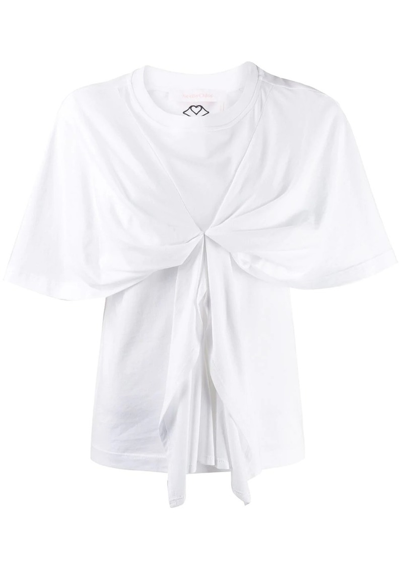 See by Chloé knot detail short sleeve T-shirt