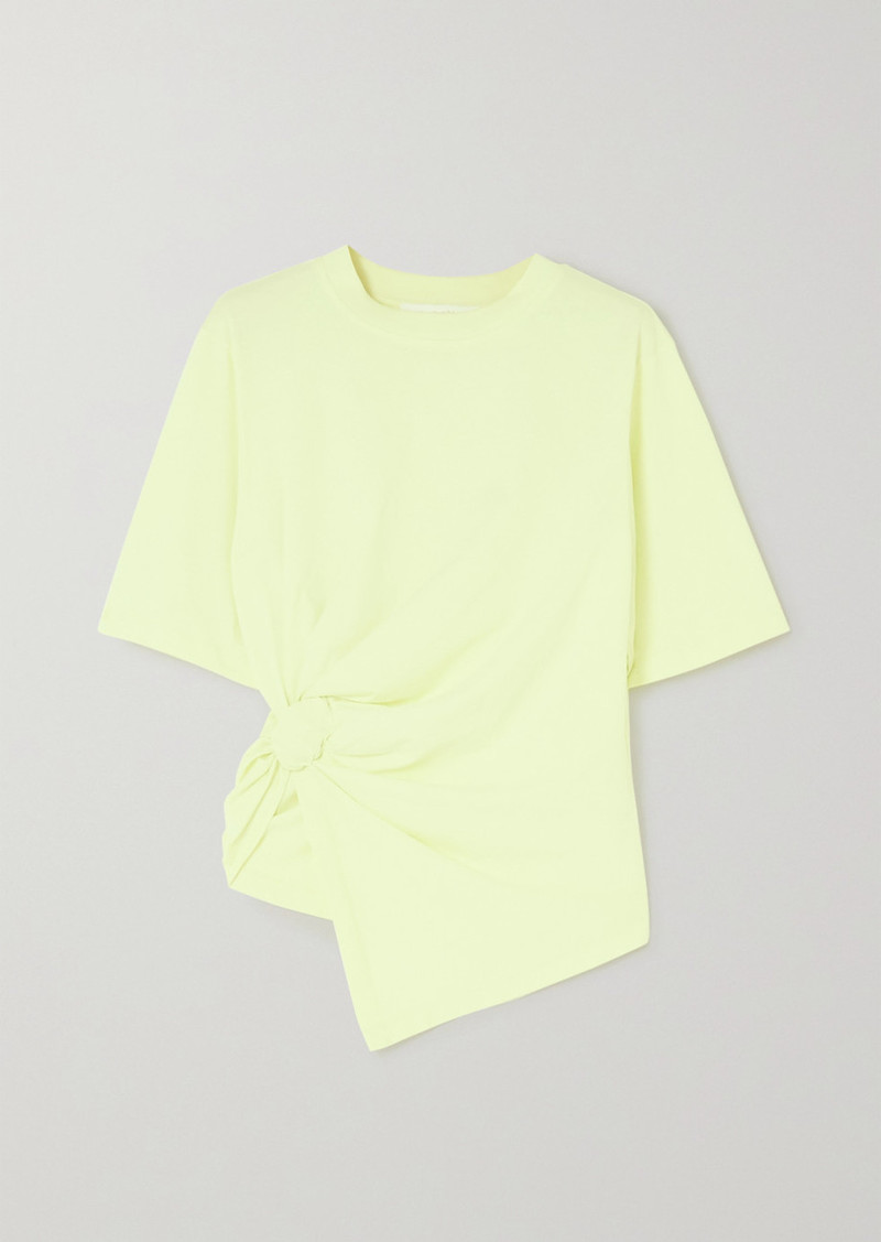 See by Chloé Knotted Cotton-jersey T-shirt