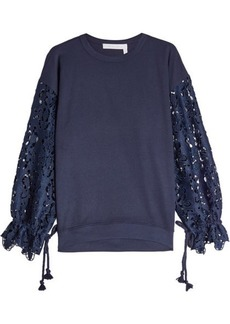 See by Chloé Lace and Jersey Top